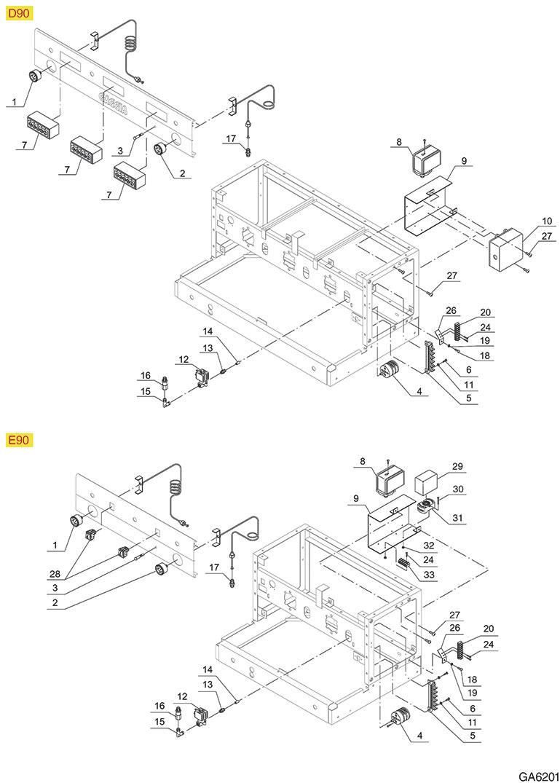 Exploded views GAGGIA GA6201 - E90-D90 ELEKTROSYSTEM GA6201 ...